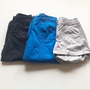 Bundle of 3 Cargo Capri Pants & Shorts